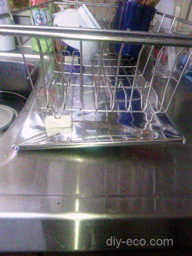 キッチンの水切りカゴのエコDIY